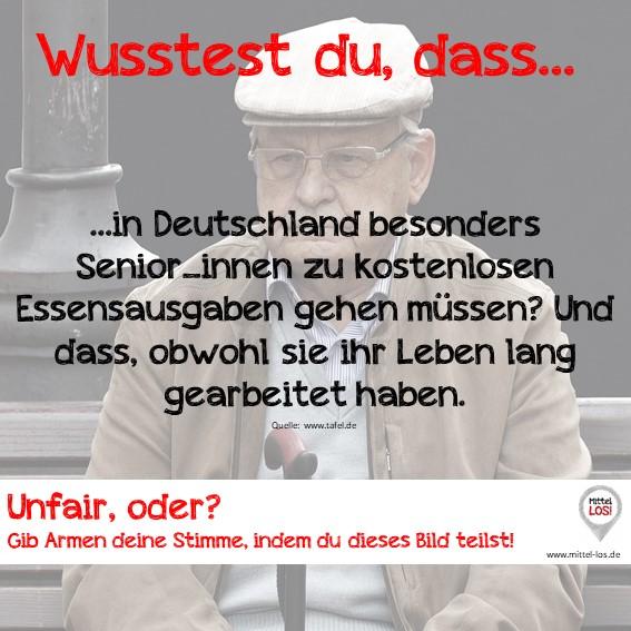 Sprich LOS! gegen Altersarmut in Deutschland